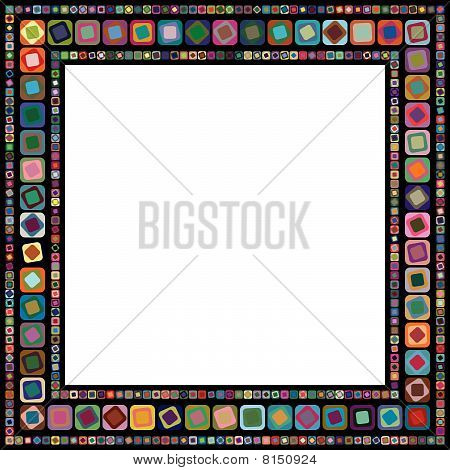 Abstract geometric vector frame
