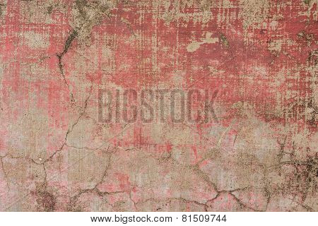 Closeup Fragment Of Stucco Wall Of A Building