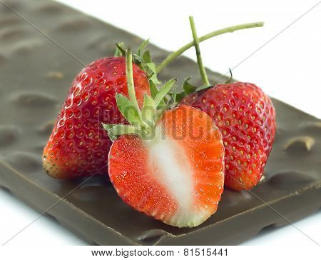 Strawberry On Chocolate