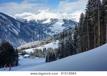 Ski resort in the ziller valley
