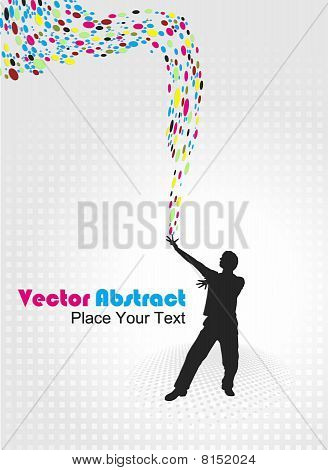 abstract magical power young man illustration