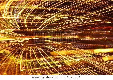 Abstract speed technology background fiber optic