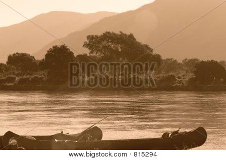Canoeing on the Zambezi