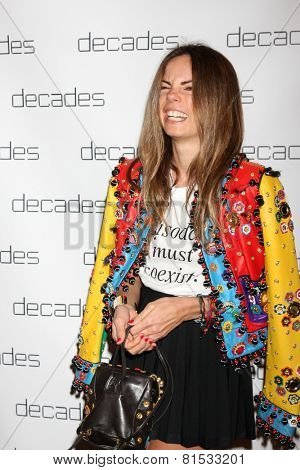 LOS ANGELES - MAR 20:  Erica Pelosini at the Decades: Les Must De Moschino Event at Decades Boutique on March 20, 2014 in Los Angeles, CA