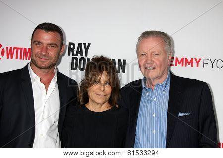 LOS ANGELES - APR 28:  Liev Schreiber, Ann Biderman, Jon Voight at the