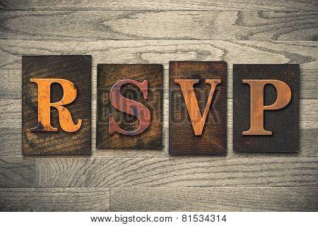 Rsvp Wooden Letterpress Concept