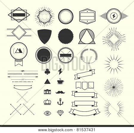 Set Of Vintage Elements For Making Logos, Badges And Labels