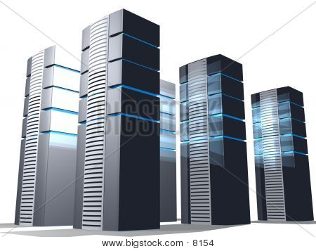 Group Of 3D Servers