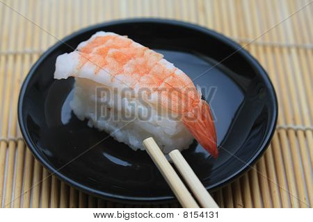 Nigirisushi, Rolled Rice And Scrimp
