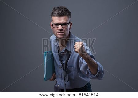 Angry Untidy Businessman
