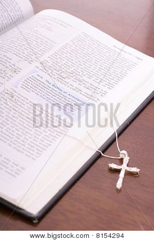 bible & rhinestone cross vertical angle