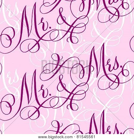 Wedding Calligraphy Seamless Pattern