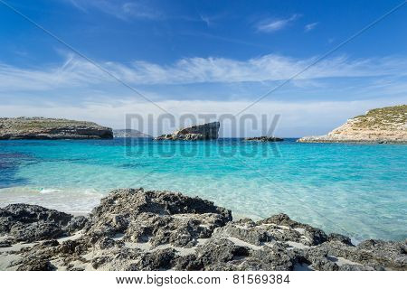 Blue Lagoon On The Island Of Comino