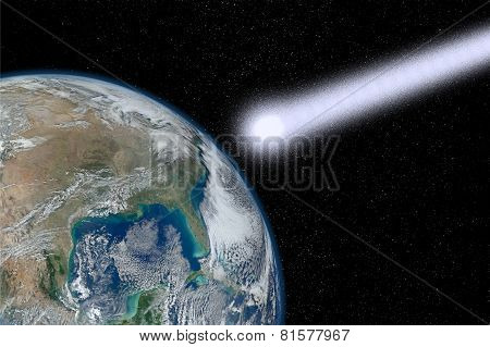 The End Of The World. Elements of this image furnished by NASA