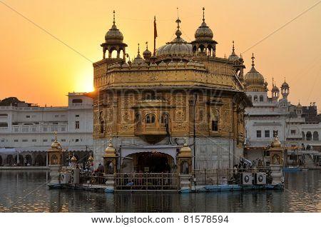 Sikh holy Golden Temple in Amritsar, Punjab, India