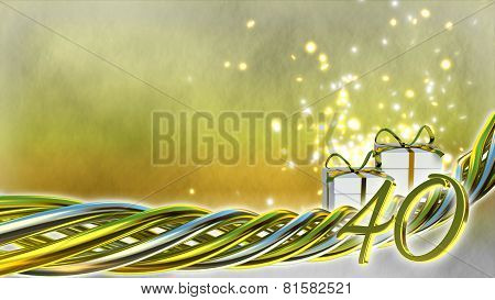 birthday concept with gifts and sparks