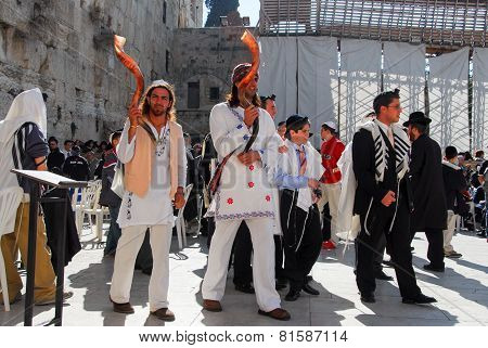 Bar Mitzvah At Western Wall, Jerusalem