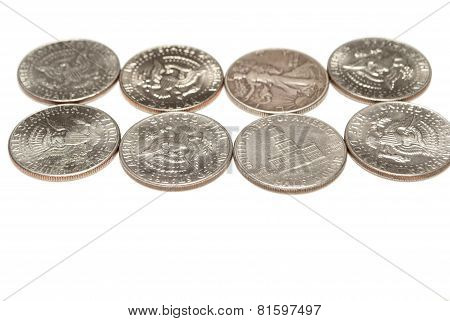 Coins, Dollars and Half Dollars