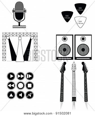 Music players and components vol 2 in black and white