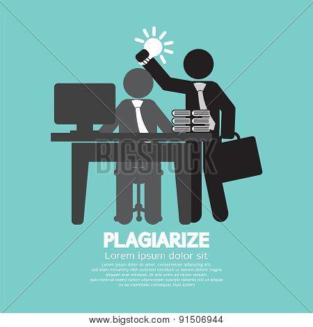 Idea Stolen Symbol Graphic Plagiarize Concept.