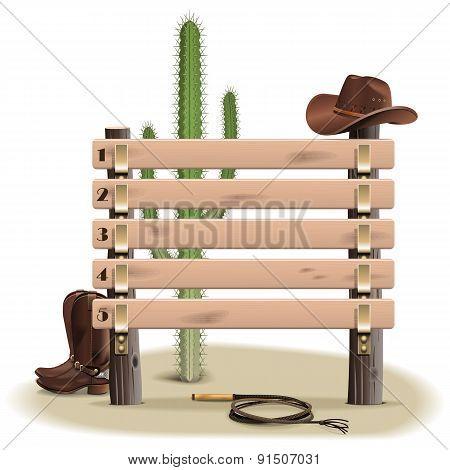 Vector Cowboy Rating Scoreboard