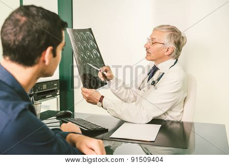 Doctor With X-ray Plate