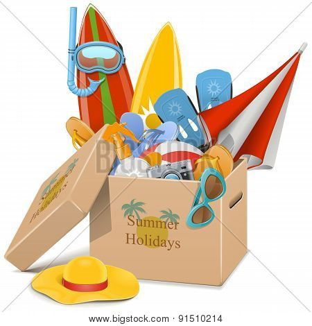 Vector Summer Holidays Concept