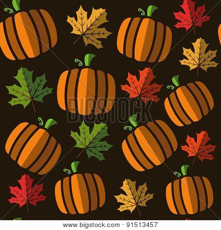 seamless pumpkin pattern background