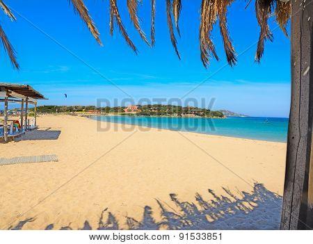 Palm Roofing By The Sea In Porto Pollo Beach