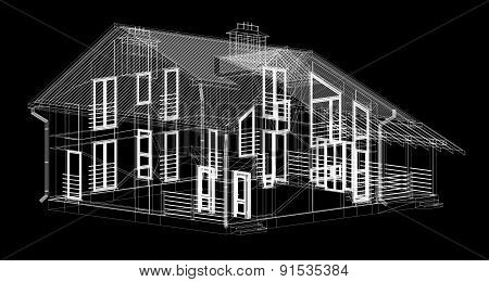 Invisible structural house