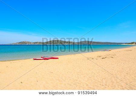 Surfboards In Porto Pollo Beach