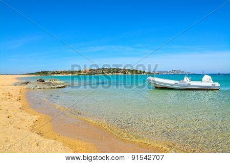 Rubber Boat In Porto Pollo