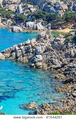 Rocks In Capo Testa On A Clear Day