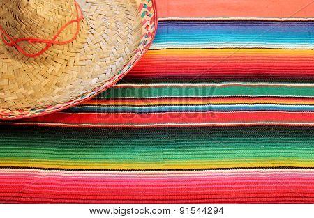 Mexico Fiesta poncho serape background