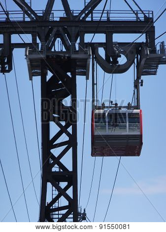 Roosevelt Island cable tram car in New York