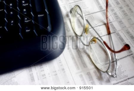 Keyboard And Spectacles