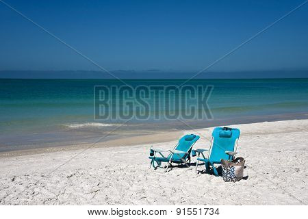 Blue Beach Chairs