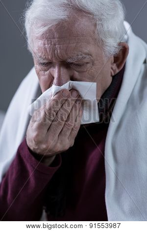 Cold Elderly Man
