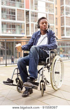young wheelchair boy