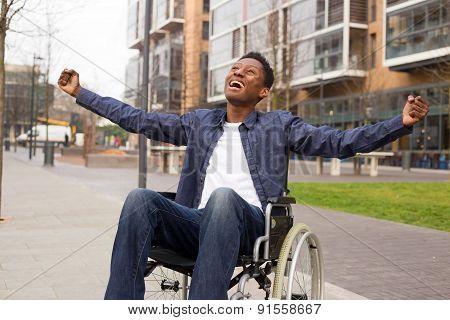 wheelchair celebration