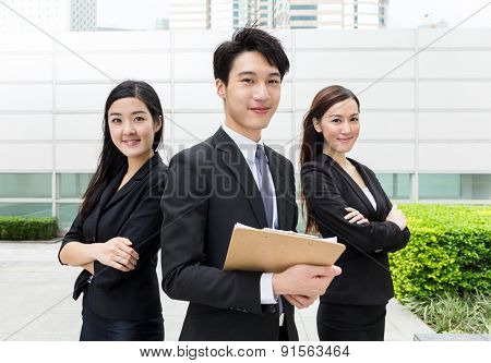 Business teammate working together