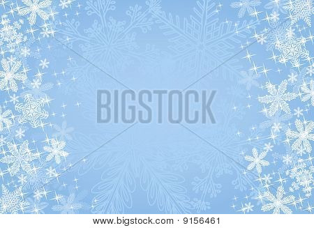 Blue Winter / Christmas Background