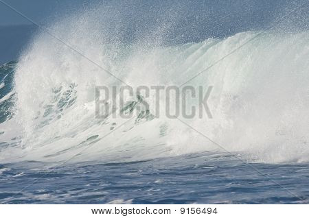 Wave Breaking Against A Strong Wind