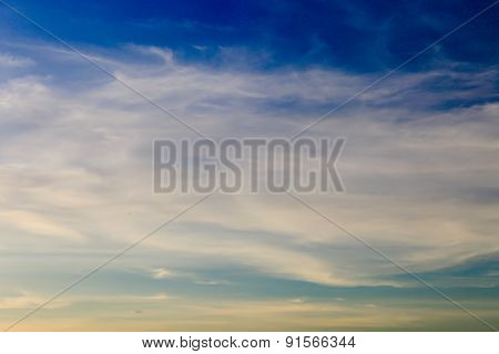 Cloud on the blue sky texture background.