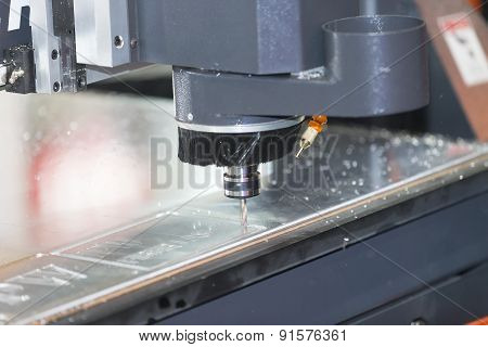 High precision CNC machine cutting acrylic plate poster