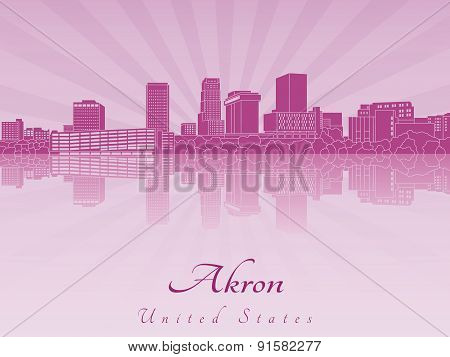Akron Skyline In Purple Radiant Orchid