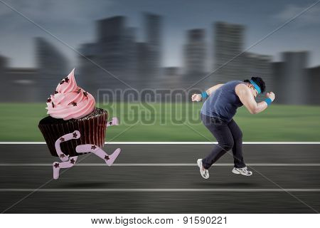 Young Man Refuse To Eat Cupcake