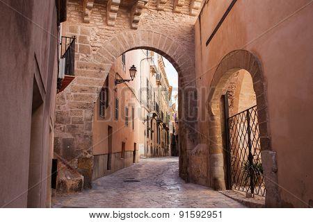 Photo of old street of Palma de Mallorca