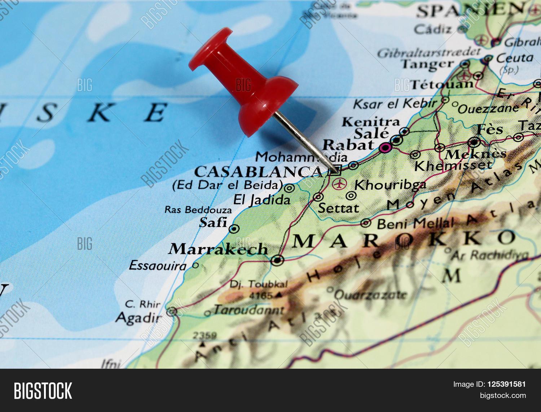 Map Pin Point Casablanca Morocco Image Photo Bigstock