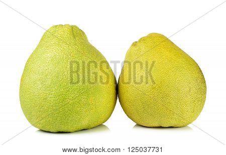 Pomelo Fruit Isolated On The White Background